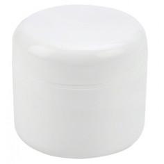 Pot vide en plastique blanc