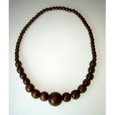 Collier en bois perles