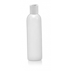 Flacon vide naturel 250ml avec bouchon blanc 24/410