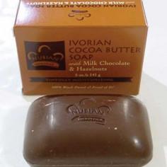 Savon au beure de cacao, chocolat et noisettes